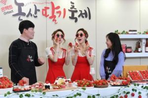 [카메라 뉴스] 2021 온택트 논산딸기축제 개막!