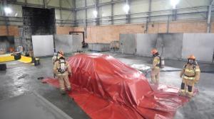 충북소방본부, KCL 합동 전기차 화재진압 실험 실시